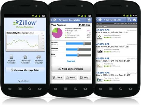 zillow app for android mortgage marketplace android app