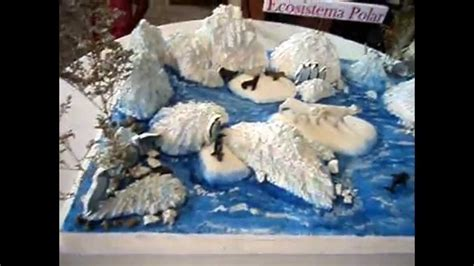como aser un oso polar maqueta maqueta ecosistema polar youtube