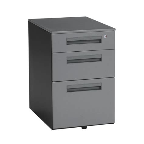 locking drawer slides lowes shop ofm gray 3 drawer file cabinet at lowes