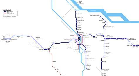 portland light rail map urbanrail gt usa gt portland light rail map