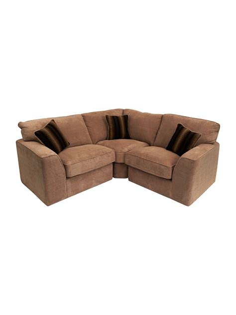 space sofa small sectional fabric sofa for small space in brown and