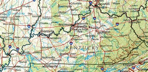 kentucky map counties roads kentucky reference map