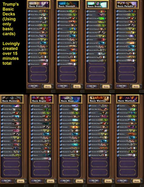 starting deck hearthstone starter deck for all 9 classes by hearthstone players