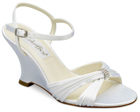 Wedding Shoes For Wedges by White Wedge Wedding Heels