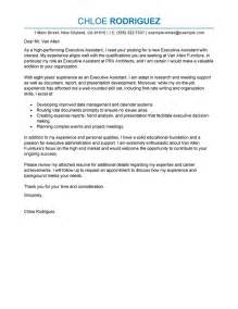 Best Executive Assistant Cover Letter by Best Executive Assistant Cover Letter Exles Livecareer
