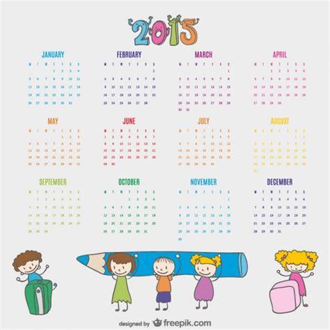 art design kalender 2015 kinderen getrokken kalender 2015 download gratis vector