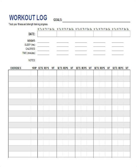 bodybuilding excel template workout spreadsheet workout everydayentropy