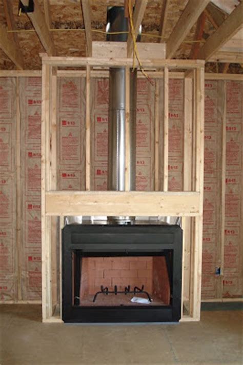 Wood Burning Fireplace Construction by Glenn Shirley S Home Construction Drywall And Other