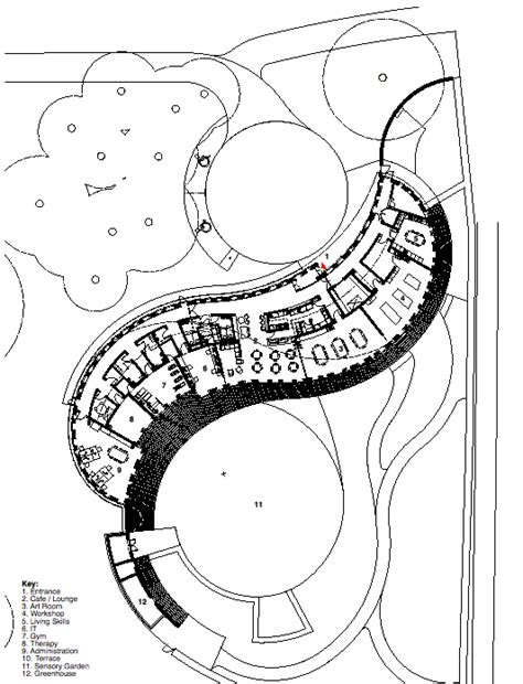 Floorplan Layout gallery of centre for scottish war blinded page park