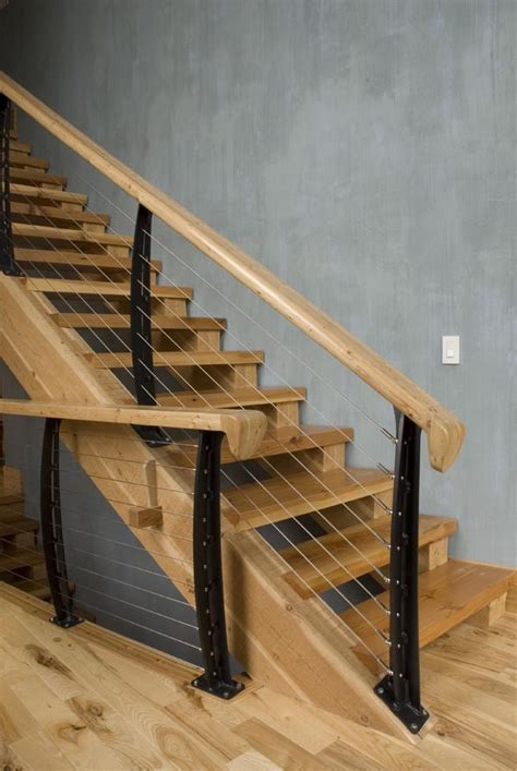 Modern Banister Rails by Beautiful Mountain Home Made Quot Modern Quot With Cable Railings