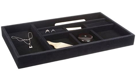Velvet Jewelry Dividers For Drawers by Black Velvet Jewelry Organizer 20 375 Inch Wide In Jewelry Trays