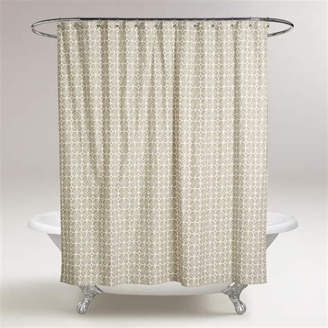 world market drapes sand geo shower curtain world market