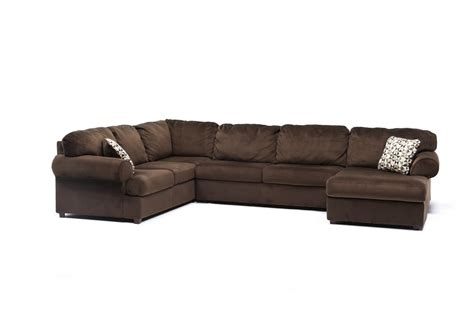 3 piece chaise sectional jessa place chocolate 3 piece sectional w raf chaise