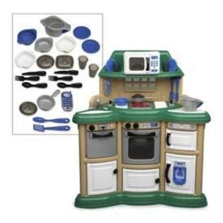 American Plastic Kitchen by American Plastic Toys Homestyle Kitchen Center Toys Pretend Play Dress Up