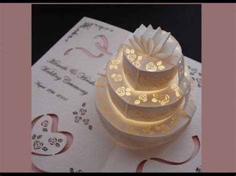 cake pop up card without template wedding invitations pop up card ideas