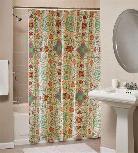 In Shower Curtain - trending in bathroom decor bohemian shower curtains rotator rod