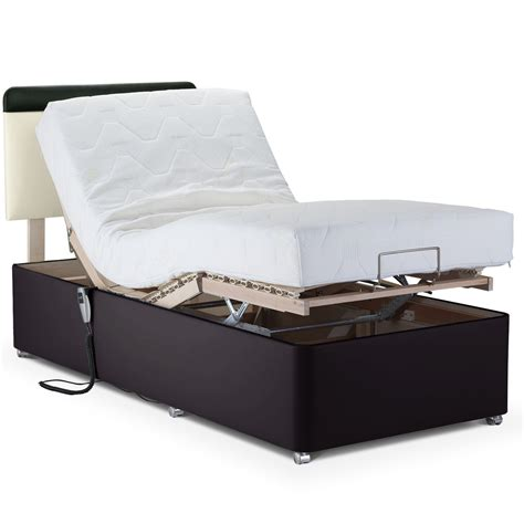 adjustable bed with memory comfort mattress faux leather next day delivery