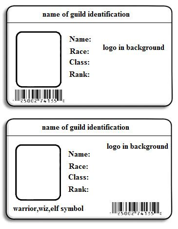 photo id template 6 best images of printable id card templates printable