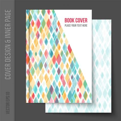 book cover design vector free download geometrical book cover design vector free download