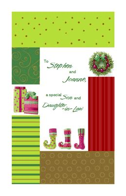 love  son  daughter  law greeting card christmas printable card american
