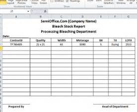 Stock Report Template Excel stock report template in excel format semioffice