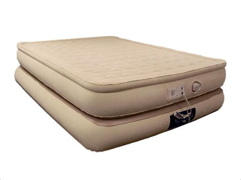 queen size inflatable bed aerobed 78713 luxury collection raised pillowtop