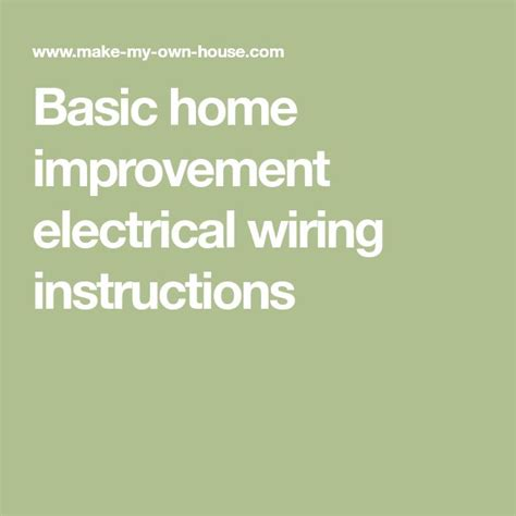 best 25 basic electrical wiring ideas on