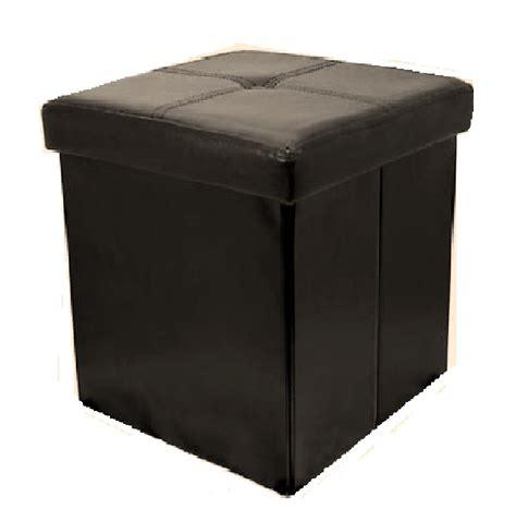 ottoman footrest storage button style pvc folding storage pouffe footrest stool