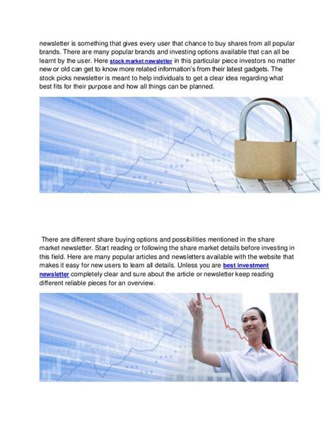 best stock newsletters best stock picks market investment newsletter