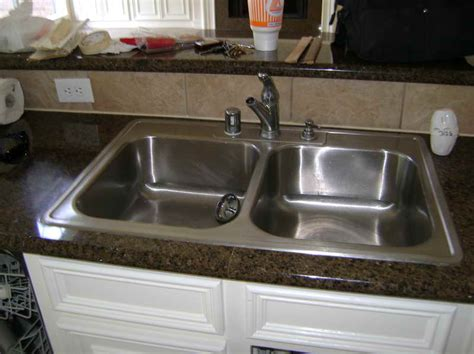 kitchen how to install kitchen sink with the faucet how