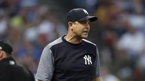 aaron boone video watch aaron boone gets ejected squats like catcher to