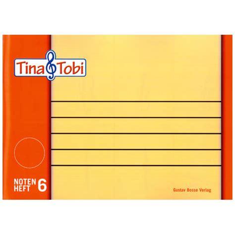 Topi Note 5 tina und tobi notenheft 6 notenpapier jetzt bei paganino