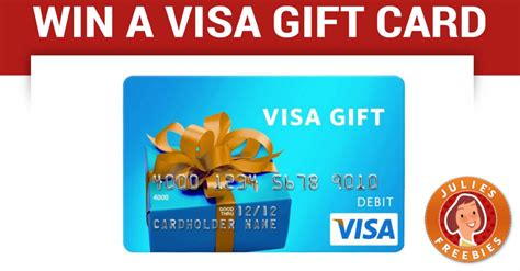 win a 20 visa gift card 77 winners julie s freebies - Win A Free Gift Card