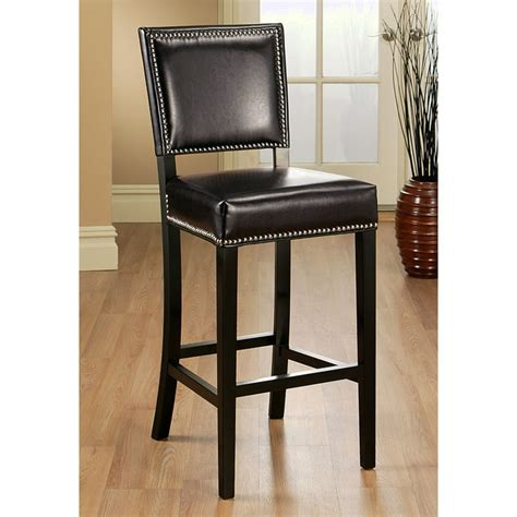 nailhead bar stool leather mercer 30 quot leather bar stool nailhead accent brown