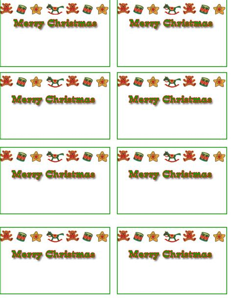 Printable Holiday Name Tags | free christmas name tags free printable holiday name tags