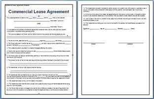 Template Commercial Lease Agreement commercial lease agreement template free free agreement