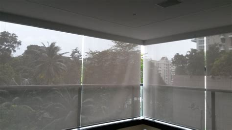 Outdoor Roller Blinds Outdoor Roller Blinds With Side Guides Mirage Fabrics