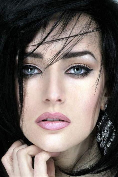 how rare is blackhair blue eyes dark hair rare beauty photography pinterest