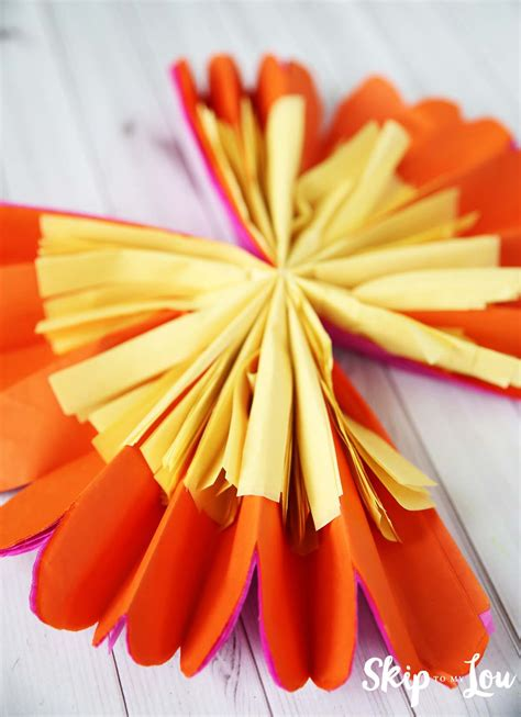 What Can You Make With Tissue Paper - how to make tissue paper flowers skip to my lou