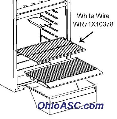 Wr71x10378 Refrigerator White Wire Shelf Ge Kenmore Wire Shelving Parts