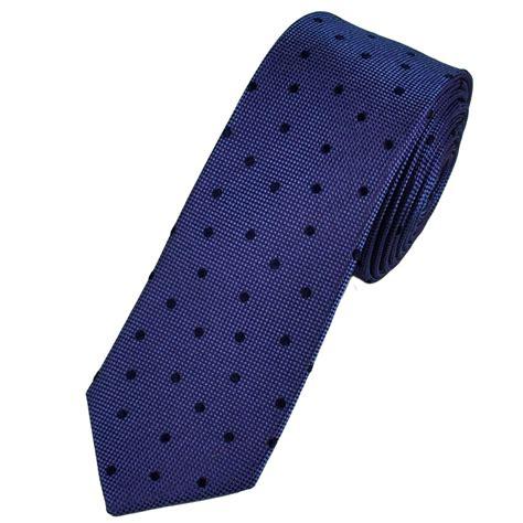 lavender blue polka dot silk designer tie by