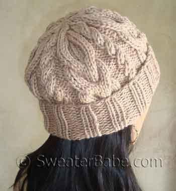 free hats knitting patterns knittinghelpcom slouchy cable hat free knitting pattern knitting pattern