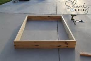 Make Your Own Bed Frame Easy Diy Platform Bed Shanty 2 Chic