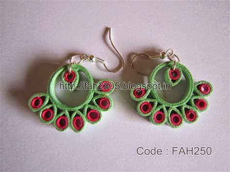 Handmade Paper Jewellery Ideas - fah creations paper quilling earrings new designs