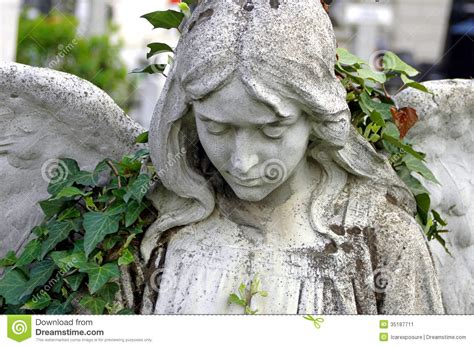 angel tattoo looking down cemetery statue of an angel stock image image of