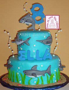 baby shark fondant shark cakes jaws birthday cake children s birthday