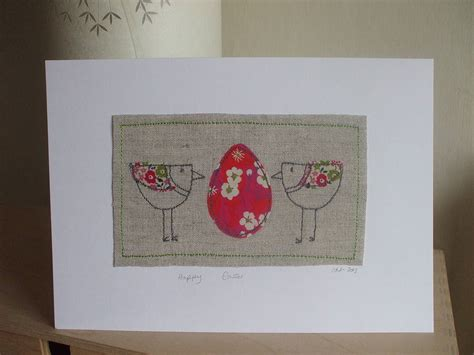 Handmade Easter Cards - handmade easter card by caroline watts embroidery