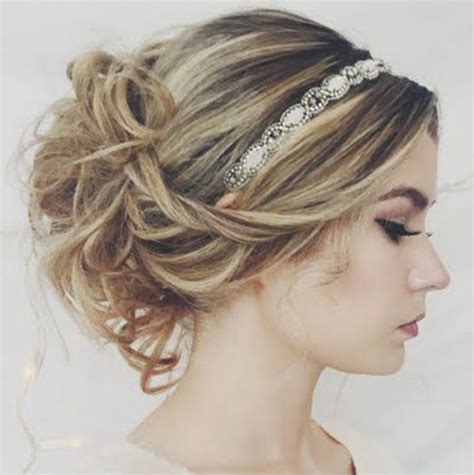 hairstyles with rhinestone headband hair for prom rhinestone headband to pop of from the