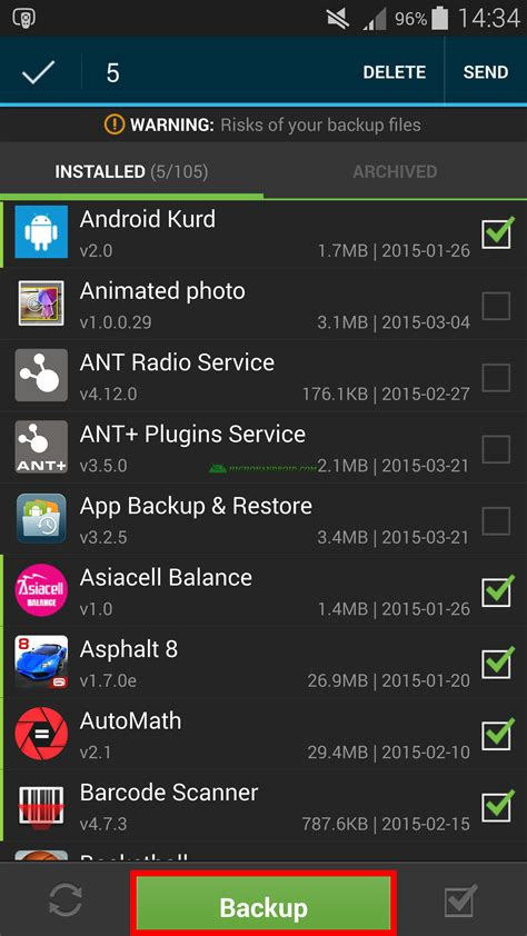 tutorial android backup guide how to backup restore android apps no root