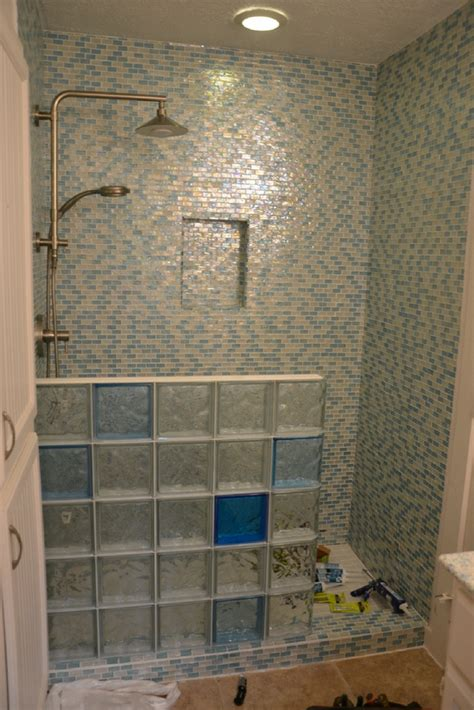 Wall Installation Glass Block Shower Wall Planning And Installation 5